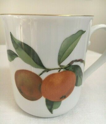 EVESHAM Royal Worcester Gold Porcelain Coffee Tea Cups Mugs Fruit 10 available