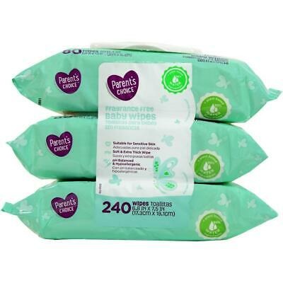 Parent's Choice Fragrance Free Baby Wipes *Free 2 day ship