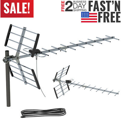Leadzm 200 Mile Indoor Outdoor TV Antenna Digital HDTV 1080P DEEP FRINGE CAPABLE
