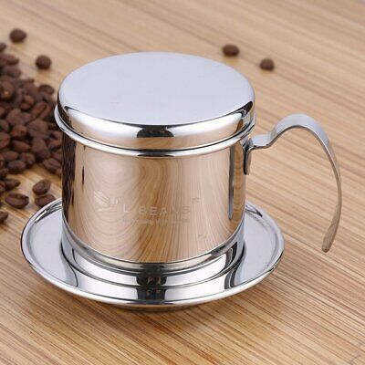Portable Coffee Percolator Stainless Steel Vietnamese Coffee Maker Pot Brewer