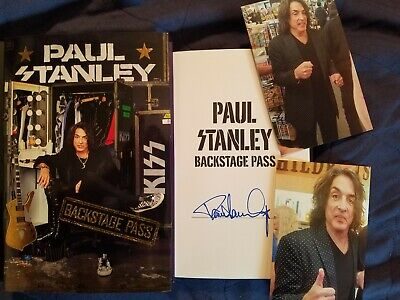 PAUL STANLEY SIGNED book Backstage Pass The Starchild's All-Access Guide ~ KISS