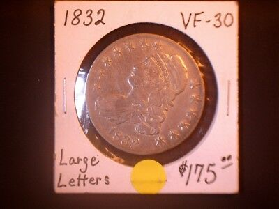 1832 50C Large Letter Capped Bust Half Dollar,  SALE
