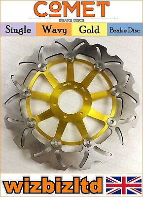 Comet Single Gold Wavy Front Brake Disc Honda CBR 600 F 1995-1998 W916GD