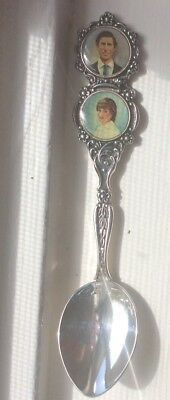 Collectable  Souvenir Charles And Diana Spoon In Orig. Velvet Box(new Condition)