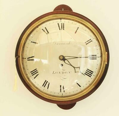 Early English 12 Inch 8 Day Fusee Dial Clock Signed Barnard London