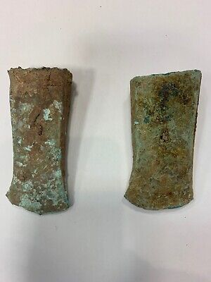 2Pcs Vietnamese Dong Son Culture - 7th B.C. - 1st A.D. - Bronze Axe (Adze)