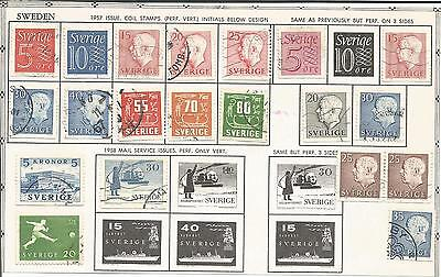Sweden       Sverige     1957  /  1958      Small Collection  /  Lot Used Stamps