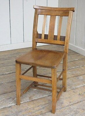 Antique Church Chairs - Traditional Reclaimed Old Antique Chapel Chairs - Seat