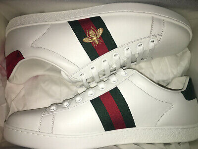 e17f0acadd7 NEW  650 GUCCI Women Ace Embroidered Leather Sneakers Shoes EU 40 or 41