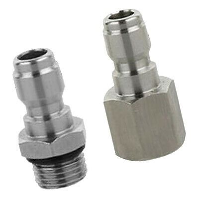 2-Set Pressure Washer Quick Connect Adapter Connector Coupling [G1/4 Male]
