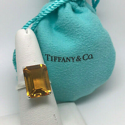 TIFFANY & CO Sparklers Cocktail Citrine Ring Sterling Silver