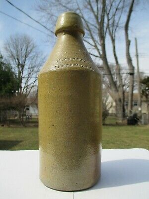 SUPERB GOLDEN TAN QUART STONEWARE~McCRUDDEN,CAMPBELL&CO~FROM 1870S PHILADELPHIA