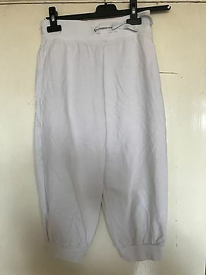 Next Age 12 Years, Girls, White 3/4 Length Tracksuit Bottoms, Capri. Pre-Loved