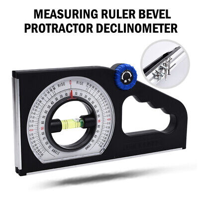 Horizontal Vertical Angle Slope Measuring Ruler Bevel Protractor Declinometer