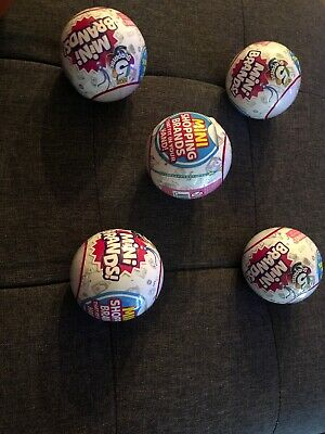 5 Surprise! Mini Brands - 5 Balls! Made By Zuru! 100% Real Authentic - New 2019