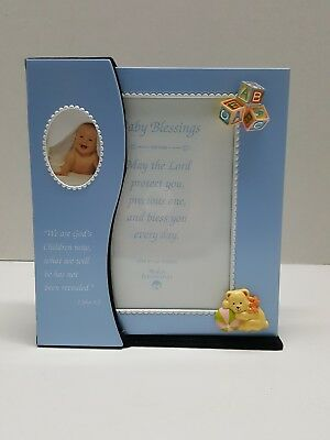 Picture Frame & PHOTO Album Combo Baby Boy Blue Nursery Gift, holds 4x6 pictures