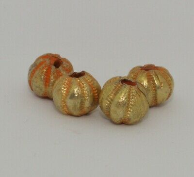 4 X Post Medieval Gold Beads - No Reserve 034