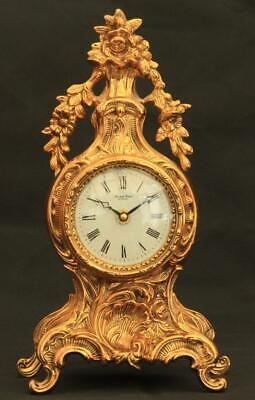 Robert Grant Of London Rococo Louis Xv Style Solid Brass Mantle Clock