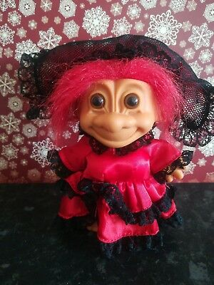 Russ troll Flamenco Spanish Retro Vintage Collectable Red gift 90s toy