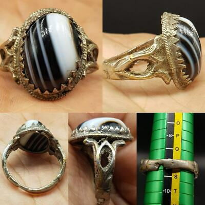 wonderful Old Sulaimany Agate stone Lovely Ring  #10Z