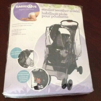Weather Shield Universal Rain Cover Wind Shield Fit Most Strollers Buggy