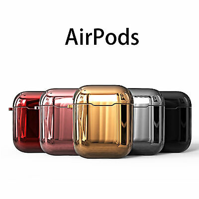 Apple AirPods1/2 Case Silicone Cover Plating TPU Charging Skin Protective
