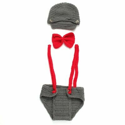 1X(Newborn Baby Boys Girls Crochet Knit Costume Photo Photography Props Out W7M9