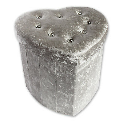 Stupendous Deluxe Silver Crushed Velvet Diamante Footstool Ottoman Pdpeps Interior Chair Design Pdpepsorg