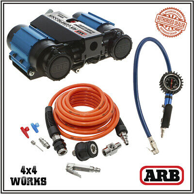 ARB Air Compressor DA4985 CKMTA12 High Output 12v Twin Deluxe Inflation Air Kit