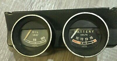 Smith Gauge Dual Twin Combination Gauge Battery Volts / Oil Pressure Classic Car
