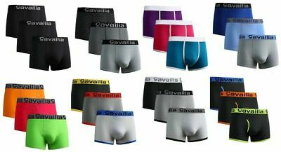 NEW Mens Boxer Shorts Cotton Rich Hipster Underwear Cavailia Designer PACK OF 3