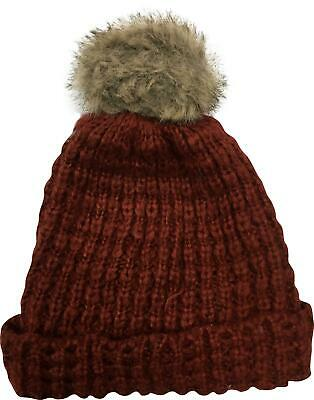PRE-OWNED Ladies Topshop Burgundy Knit Hat One Size 23214 PC317