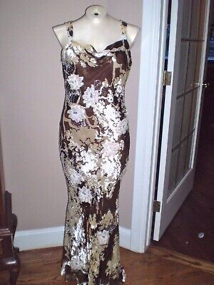 5af774d2 Bob Mackie Wedding, Cruise, Formal Lined Silk & Rayon Cowl Neck Dress Size  10