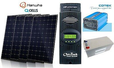 1860W Solar Panel Kit Outback charge controller lithium battery panneau solaire