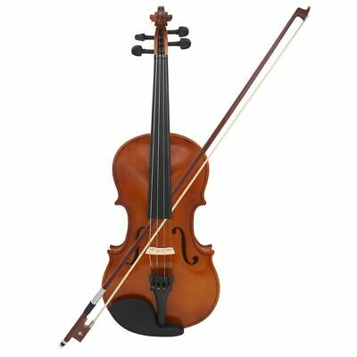 1X(Astonvilla Full Size 4/4 Violin Natural Acoustic Solid Wood Spruce Flame W2E6