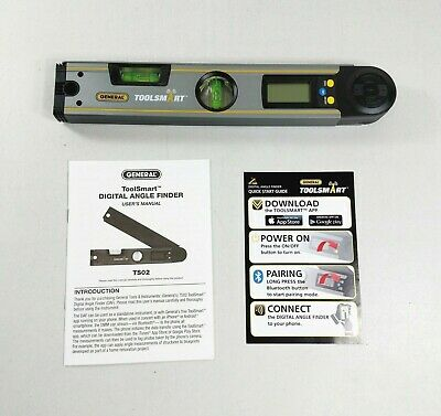 General Tools TS02 ToolSmart Bluetooth Connected Digital Angle Finder