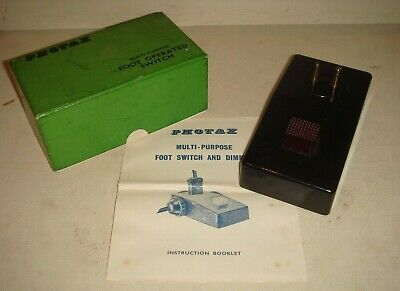 Vintage PHOTAX Multi Purpose Foot Operated Switch - Bakelite, Boxed & instructs