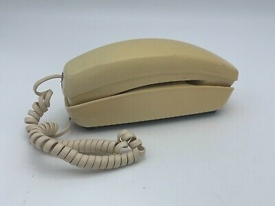 Vintage Western Electric Trimline Telephone Rotary Dial Beige Bell