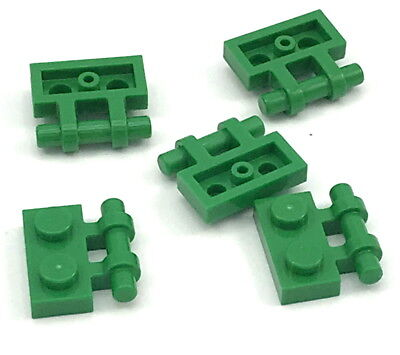 LEGO PART 48336 GREEN PLATE MODIFIED 1 X 2 WITH HANDLE ON SIDE 9 PIECES