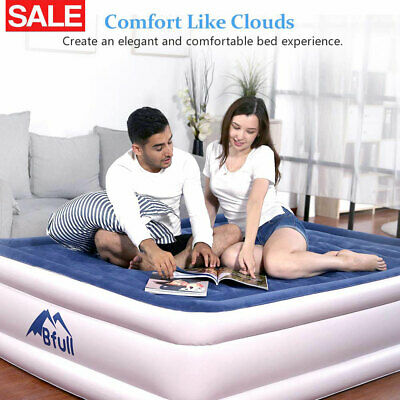 Rest Air Mattress Bed Thicken Airbed Built-in Electric Air Pump Queen&Twin Sizes