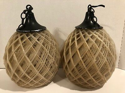 Antique Celluloid Plastic Beehive Swag Light Fixture Shade