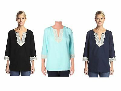 Nydj Women's Fit Solution Tunic Shirt Blouse