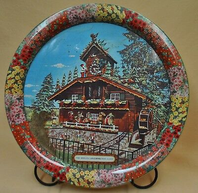 Worlds Largest Cuckoo Clock ALPINE - ALPA Wilmont Ohio Souvenir Tray