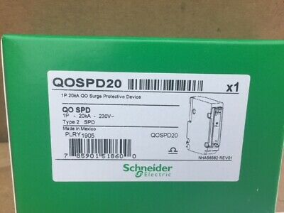 Schneider QOSPD20 Surge Protection Device Rated Discharge Current 20kA - Type 2
