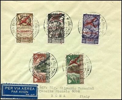 Po118. Poland Forces Second Corps Italy Cover Charity Stamps Fund Air Mail 1946