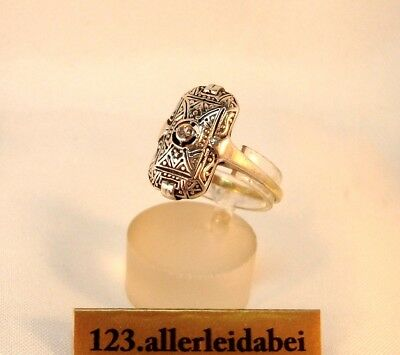 Art Deco Diamant Ring 333 Gold & Silber Goldring / BH 056