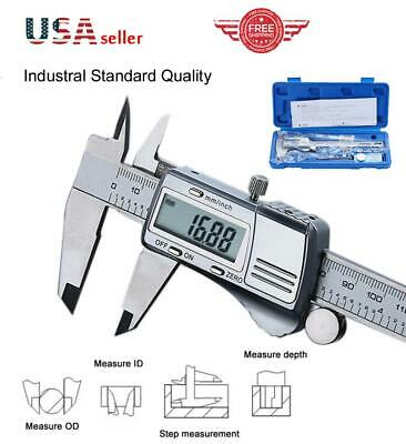 150mm LCD Digital Caliper Vernier Micrometer Measure Tool Survey Gauge Ruler A10