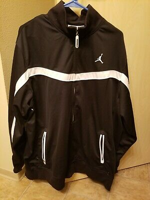 550c54e3ff68 Nike Michael Jordan Atheletic Light Weight Men s Jacket Size XL Black Zip Up