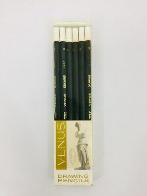 12 Vintage Unused Unsharpened Venus Drawing Pencils 6H 3800 (1 Pack of 12)