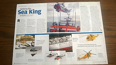 Sea King Helicopter Article models + real item  Ephemera  5 sides Air Sea Rescue